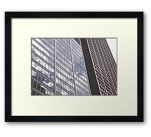 Chicago Skyscraper w/ Reflection  Framed Print