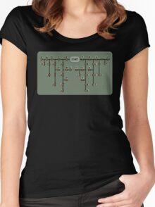 Morse code decoder Women's Fitted Scoop T-Shirt