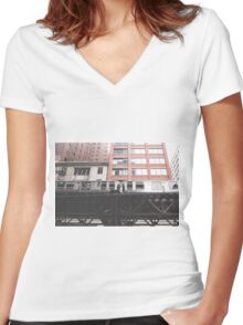 Chicago L #2 Women's Fitted V-Neck T-Shirt