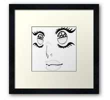 Bright Faace Framed Print