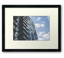 Chicago Skyscraper w/ Clouds Framed Print