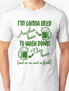 St Patricks Day Beer Drinking Humor Unisex T-Shirt