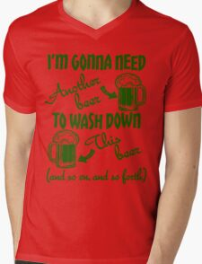 St Patricks Day Beer Drinking Humor Mens V-Neck T-Shirt