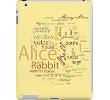 Alice in Wonderland Word Cloud 4 iPad Case/Skin