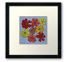 Abstract #374 Paper Flowers Framed Print