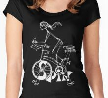 Spin, Spinning, Spin Class, Cycle Women's Fitted Scoop T-Shirt