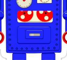 Retro vintage toy robot  Sticker