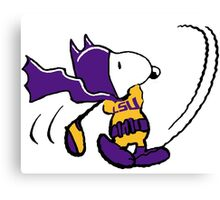 BatSnoopy Playing Golf with LSU Tee Canvas Print