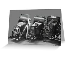 Vintage cameras photography design Greeting Card