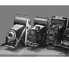 Vintage cameras photography design Photographic Print