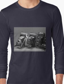 Vintage cameras photography design Long Sleeve T-Shirt