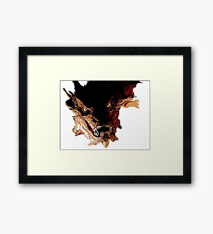 Smaug the Terrible Framed Print