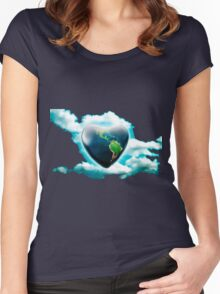 love earth Women's Fitted Scoop T-Shirt