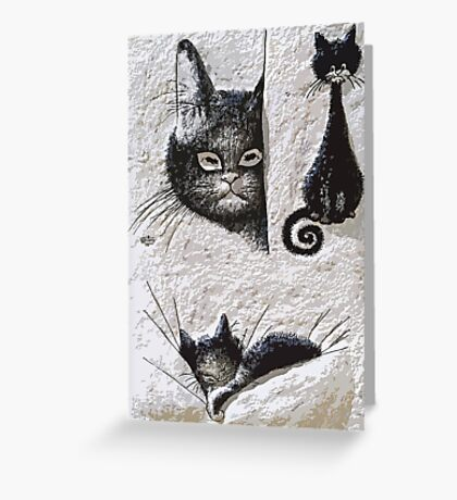 Exclusive: CATS  LOVE / My Creations Artistic Sculpture Relief fact Main 20  (c)(h) by Olao-Olavia / Okaio Créations Greeting Card