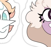 Pearl and Amethyst Stickers Sticker