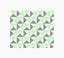 Mint Green Grey Geometric Triangles Classic T-Shirt