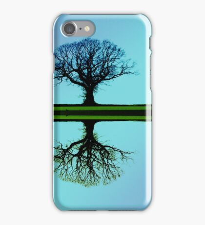 Blue Tree Symmetry iPhone Case/Skin
