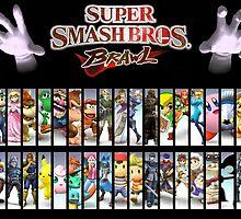 Smash Bros all characters by GrandBab