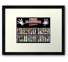 Super Smash Bros Brawl all characters Framed Print