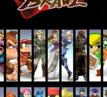 Super Smash Bros Brawl all characters Sticker