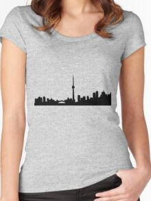 Toronto Skyline Shirt Women's Fitted Scoop T-Shirt