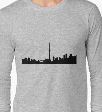 Toronto Skyline Shirt Long Sleeve T-Shirt
