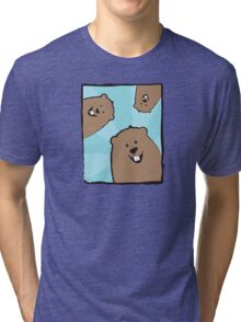 Groundhog Trio, Blue Sunburst Tri-blend T-Shirt
