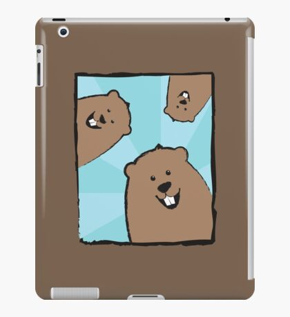 Groundhog Trio, Blue Sunburst iPad Case/Skin