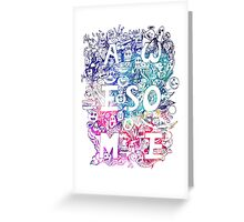 awesome COLOR DOODLE Greeting Card