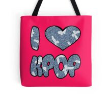 I HEART KPOP DENIM - PINK Tote Bag