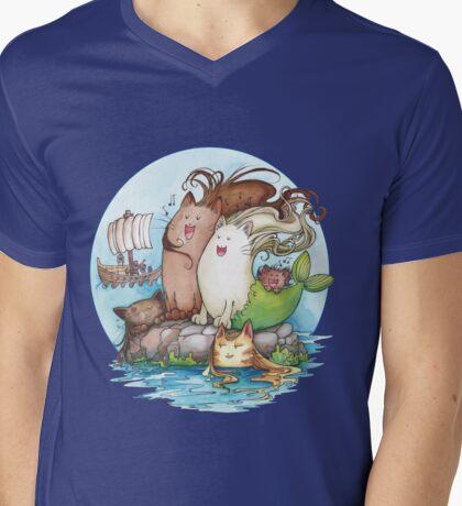 Siren Cats Mens V-Neck T-Shirt