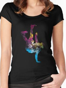 hip hop galaxy Women's Fitted Scoop T-Shirt