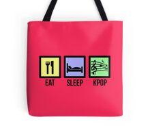 EAT SLEEP KPOP - PINK Tote Bag