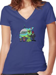 The Mystery Kids Mysteries Women's Fitted V-Neck T-Shirt