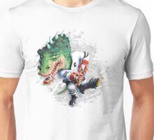 Slash Dinosaur Hockey Player Unisex T-Shirt