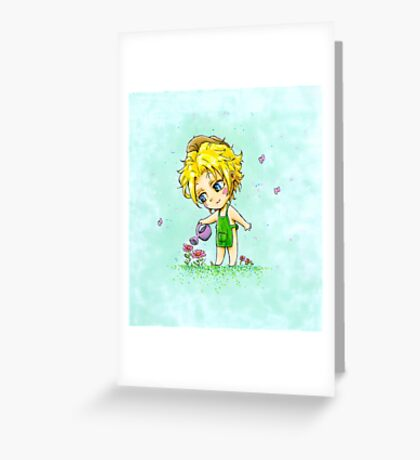 chibi jardinier Greeting Card