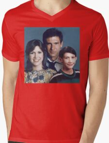 Solo Organa Skywalker family portrait Mens V-Neck T-Shirt