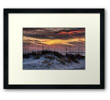 Sea Oats Sunset Framed Print