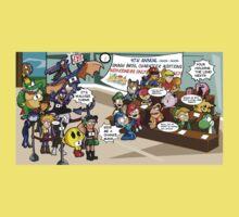 Smash Bros funny One Piece - Short Sleeve