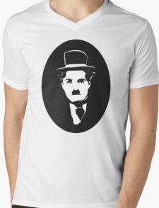 Charlot is watching you Mens V-Neck T-Shirt