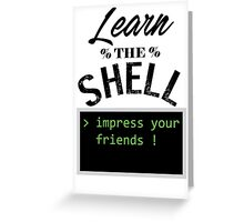 Learn the shell Greeting Card