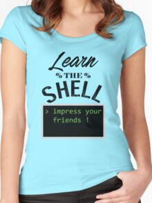 Learn the shell Women's Fitted Scoop T-Shirt