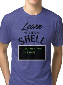 Learn the shell Tri-blend T-Shirt