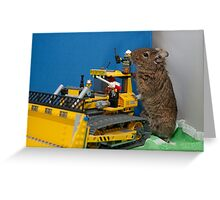 Even the heavy artillary was no match? Greeting Card