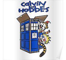 Calvin And Hobbes Tardis Poster