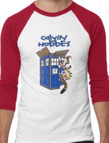 Calvin And Hobbes Tardis Men's Baseball ¾ T-Shirt