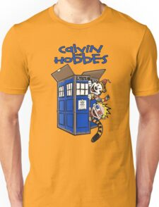 Calvin And Hobbes Tardis Unisex T-Shirt