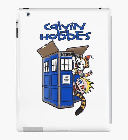 Calvin And Hobbes Tardis iPad Case/Skin