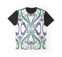 Marbled Floral Graphic T-Shirt