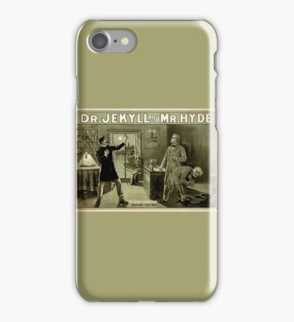 Gothic fiction - dr. jekyll and mr. Hyde iPhone Case/Skin